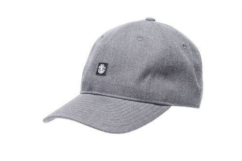 ELEMENT MENS BASEBALL CAP.FLUKY DAD UNSTRUCTURED GREY STRETCH CURVED HAT 8W 2 9